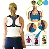 Back Posture Corrector for Women Men, Effective Primate Posture Brace & Armpit Pads, Comfortable Clavicle Brace, Adjustable Thoracic Kyphosis Brace, Upper Back Clavicle Posture Support (REG 32''-45'')