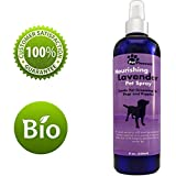 Natural Pet Spray - Aromatherapy Lavender Essential Oil & Primrose Fur Deodorizer - For Dogs & Puppies - Cat Grooming Spray - Cleaner & Odor Control Spray - Cruelty Free - Tear Free Formula - 8 Oz