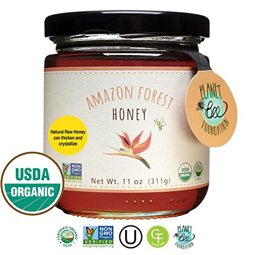 Organic Honey Forest - GREENBOW Organic Amazon Forest Honey - 100% USDA Certified Organic, Gluten Free, Certified Non-GMO, and Kosher Organic Amazon Forest Honey (11oz) - Taste the Nature