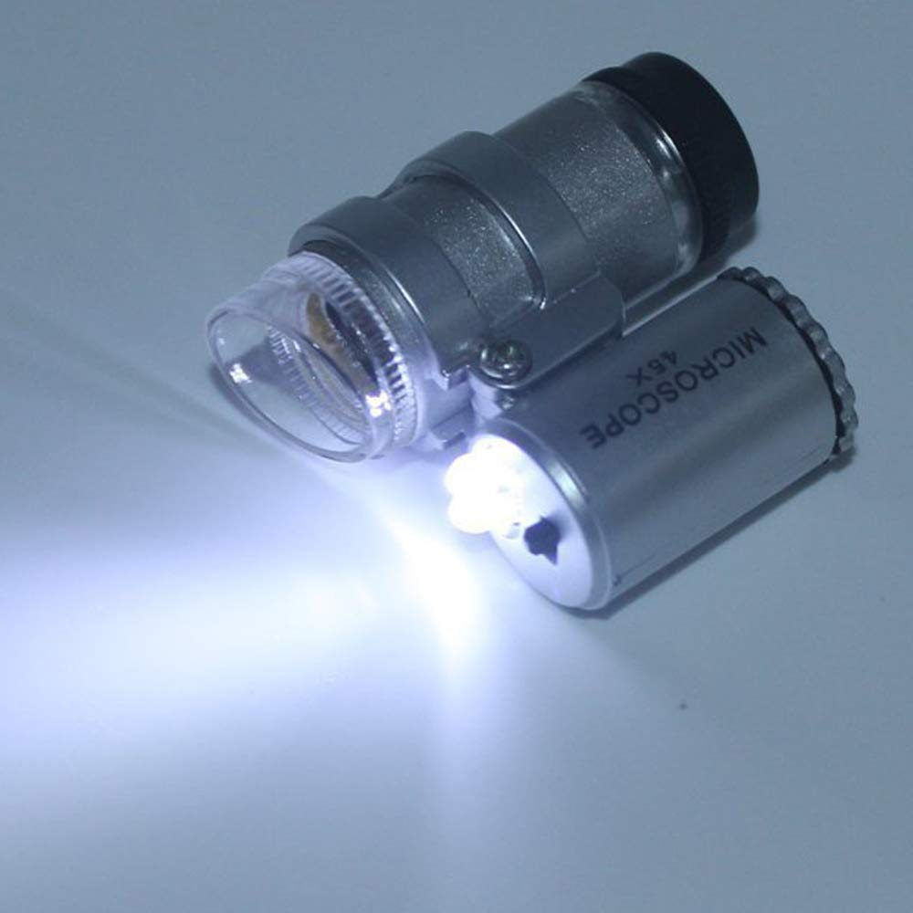 45X Illuminated LED Loupe StillCool Jeweler Tool Kit Diamond Tester V2
