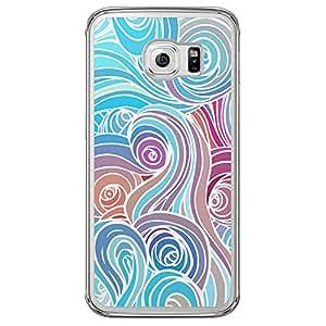 Loud Universe Samsung Galaxy S6 Edge Clouds 8 Printed Transparent Edge Case - Multi Color