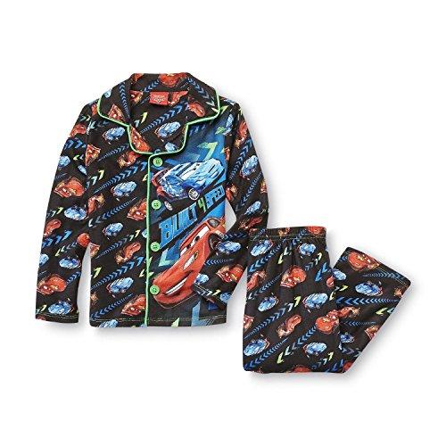 Disney Cars Boys 2pc Flannel Coat Pajamas Set, Size 12M