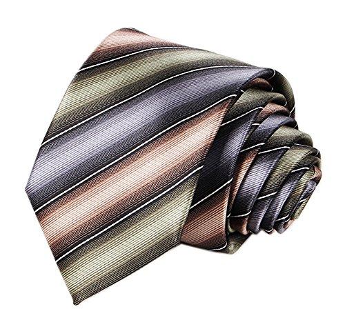 Mens Grey Multicolored Extra Long Woven Silk Work Dress Ties Fashion Fun Necktie