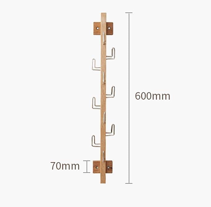 Amazon.com: Perchero de madera maciza para colgar en la ...