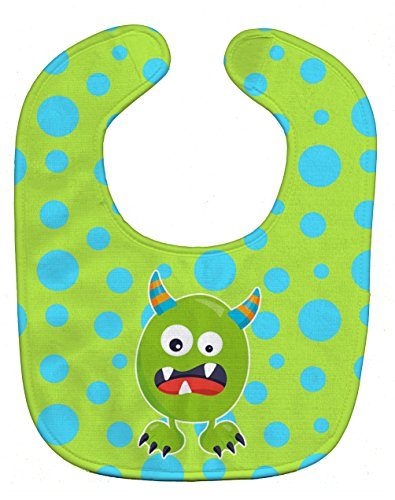 Caroline's Treasures BB7003BIB Baby Bib, Little Monster Greenie Doodle, Large