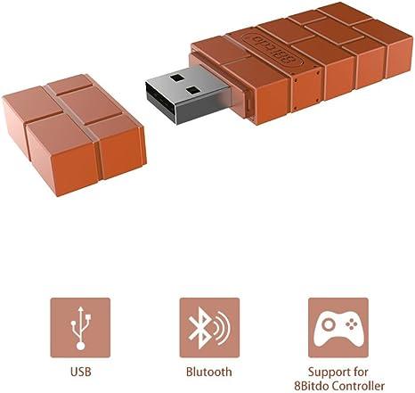 Konesky 8Bitdo USB Wireless Bluetooth Adapter Portable Recevier para Windows / Mac / Raspberry Pi (Nintendo Switch): Amazon.es: Videojuegos