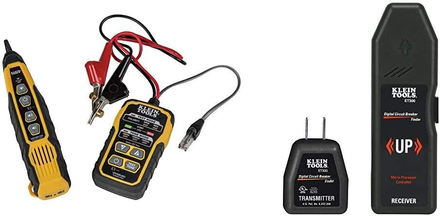 Klein Tools VDV500-820 Cable Tracer with Probe Tone Pro Kit & Tools ET300 Circuit Breaker Finder/Receptacle Tester Finds Electrical Circuit Breaker of 120V Standard Electrical Outlet