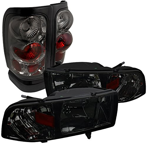 Dodge Ram Euro Smoke Tinted Crystal Head Lights+Tail Brake Lamps