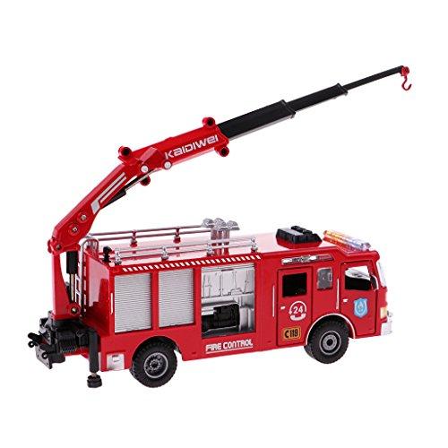 Perfk 1/50スケール 消防車モデル トラックモデル 砂テーブル 景色 レイアウト 子供 誕生日 ギフト の商品画像