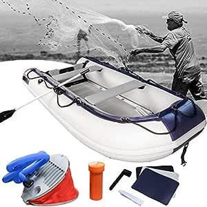 Hengda Barca Hinchable Neumática Capacidad para 5 Adultos Soporte para Motor, inflador y remos de Aluminio …