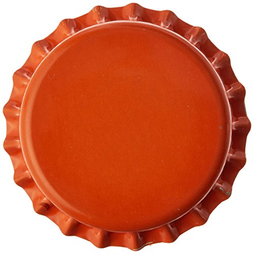 orange beer bottle caps - 3