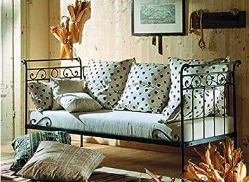 Sofa-Cama de forja Mod. ABRIL de 90x190cms.: Amazon.es: Hogar