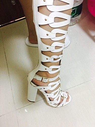 Heel be Lin Color message Women Super colors Out a High single All Super Candy Sandals Ladies Fashion with made can Hollowed Boots Sandals Rome Xing HdvqSwOH