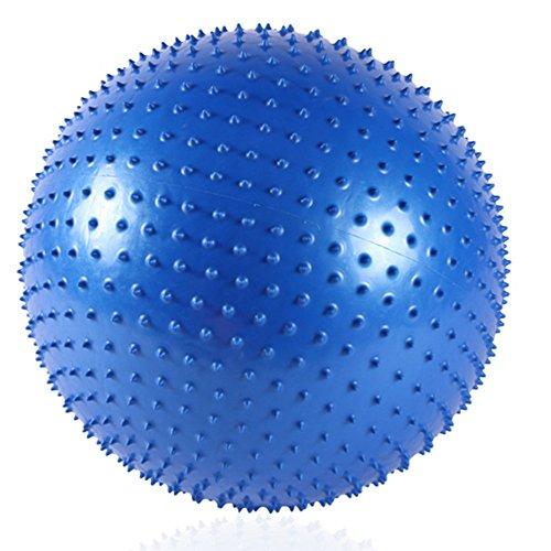 (3 couleurs facultatives) (65cm) Balle de yoga de balle / balle d'équilibre / boule de massage épaisse antidéflagrante / ballon de fitness anti-éclatement