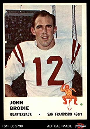 05498f7b2d4 1961 Fleer   59 John Brodie San Francisco 49ers (Football Card) Dean s  Cards 4