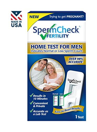 SpermCheck Fertility Home Sperm Test Kit | Indicates Normal or Low Sperm Count | Convenient, Accurate and Private | Easy To Read Results in 10 ()