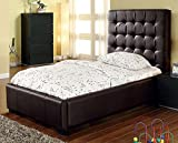 At Home Ahu-017-Choc-05 Athens Chocolate Twin Bed