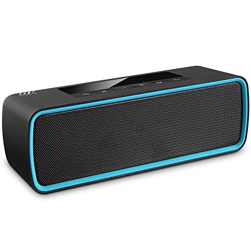 Baggage Car Streamlined - Portable Wireless Bluetooth Speakers, Siroflo Hands-Free Calling Waterproof Bluetooth Speaker with Hd Sound and Bass for Car, Shower, Travel, Home Party (Black)