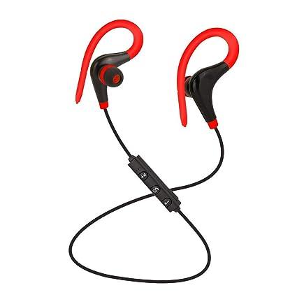 MINQI - Auriculares inalámbricos Deportivos Estéreo con Bluetooth para Samsung, iPhone, LG, Sony