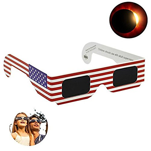 Price comparison product image Iuhan® Solar Eclipse Glasses 2017 Galaxy Edition CE and ISO Standard Viewing (B)