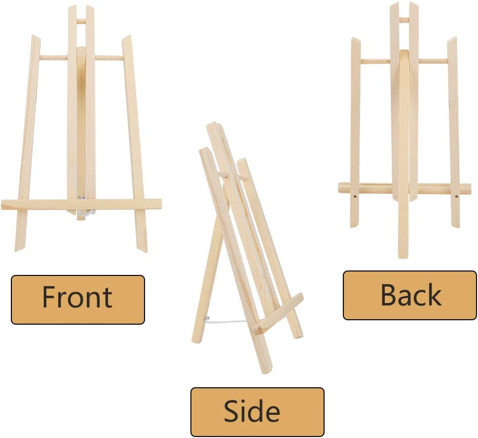 3 Packs Tabletop Display Easels Art Craft Painting Easel Stand for Kids Artist Adults Students Classroom Jekkis 16 x 9.5 Inches Wooden Easel