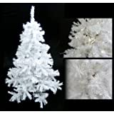 SNOW WHITE ARTIFICIAL CHRISTMAS TREE 6FT / 180CM INCLUDING STAND ** HIGH QUALITY XMAS TREE WITH 680 TIPS - IDEAL FOR CHRISTMAS DECORATIONS **