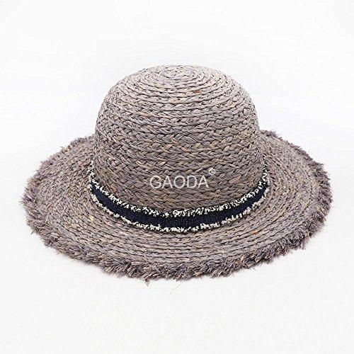 Haixin Amoi chapeau visière soleil de printemps, chapeau de paille pour le Lafite Dame en dentelle