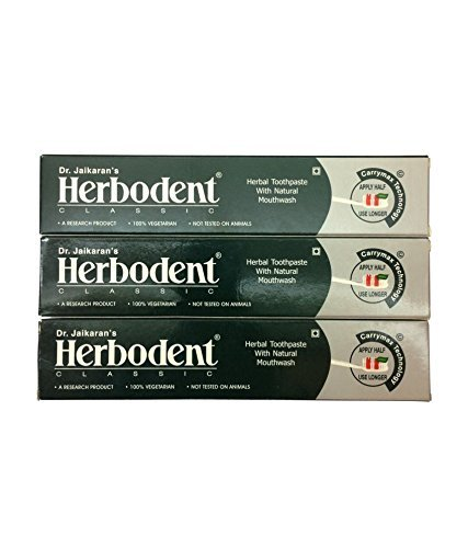 Herbodent Dr. Jaikaran's Premium Toothpaste (Best Herbal Toothpaste For Complete Oral Care) - Pack Of 3 (Ayurvedic Herbal Toothpaste)