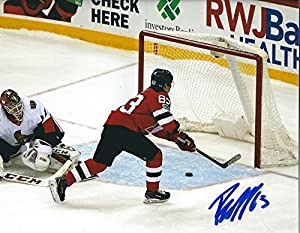 Autographed Jesper Bratt 8x10 New Jersey Devils Photo