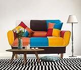 "Best Merax Futons - Merax 55-74"" Multicolor Adjustable Loveseat Home Furniture Sofa Review"