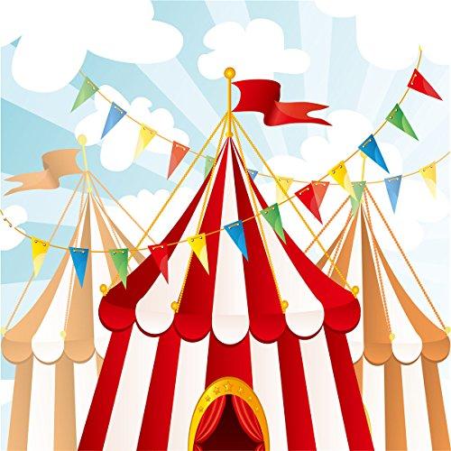 GYA Carnival Party Vinyl Photography Backdrop For Kids Birthday Decoration Customized Background Photo 6x6ft