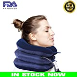 Euroa Cervical Neck Traction Device – Effective & Relief for Chronic Neck Shoulder Pain| Improve Spinal Alignment to Reduce Neck Pain| Cervical Collar Adjustable Collar for Comfort Instapark (Blue)