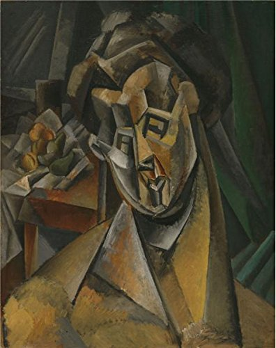 [High Quality Polyster Canvas ,the High Quality Art Decorative Prints On Canvas Of Oil Painting 'Pablo Picasso-Woman With Pears,1909', 8x10 Inch / 20x26 Cm Is Best For Foyer Artwork And Home Decoration And] (Color Guard Costumes Rental)