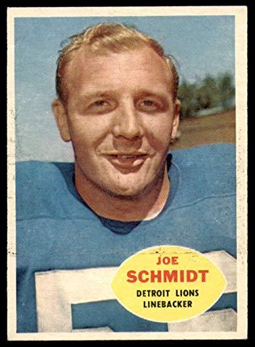 Joe Schmidt Detroit Lions - 1960 Topps Football 46 Joe Schmidt Detroit Lions Excellent