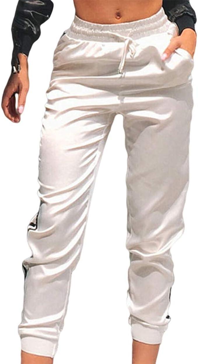 Mujer Pantalones Deportivos Moda Slim Pantalon Recortado Color de ...
