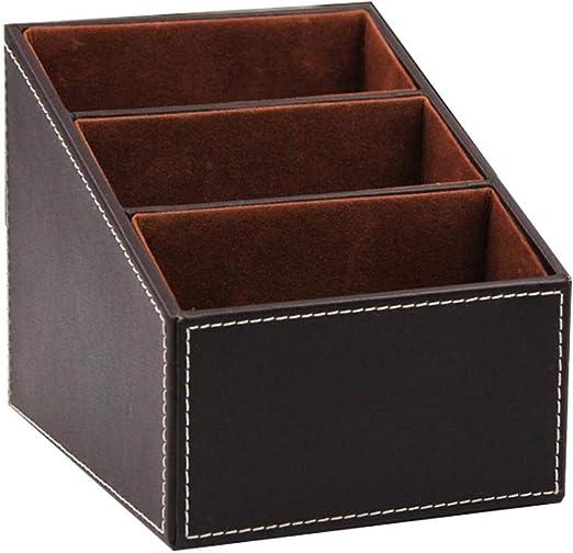 Caja de almacenamiento de escritorio de cuero PU de 3 ...