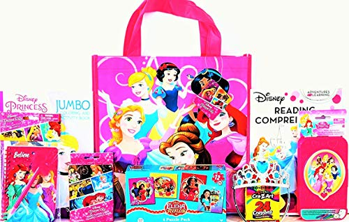 Disney Princess Coloring & Activity Gift Set with Reusable Princess Tote Bag, Puzzle, Educational Workbooks & More