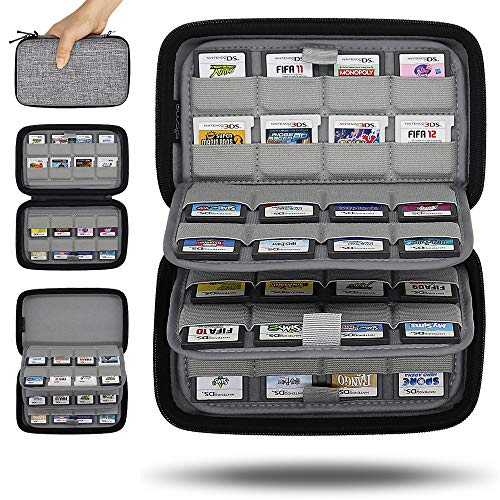 Sisma 64 Game Cartridge Holders Storage Case for Nintendo 3DS 2DS DS Game Cards – Grey