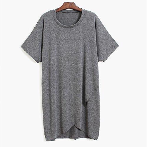 Xmy mois d'été couture Denim cuir manches courtes T-shirt à partir de la taille courte sangle, ouvrez la chemise et t-shirt code sont