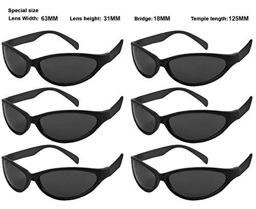 Edge I-Wear 6 Pack Neon Sport Style Sunglasses with CPSIA certified-Lead(Pb) Content Free and 100% UVA/UVB Protection 5460R/BLK-6 (Made in Taiwan) - Edge Sport Sunglasses