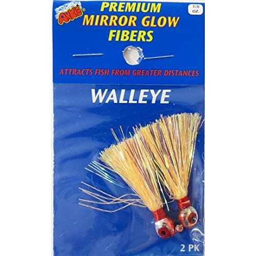 Arkie 1/8 oz. Mirror Glow Walleye Jig (Orange)
