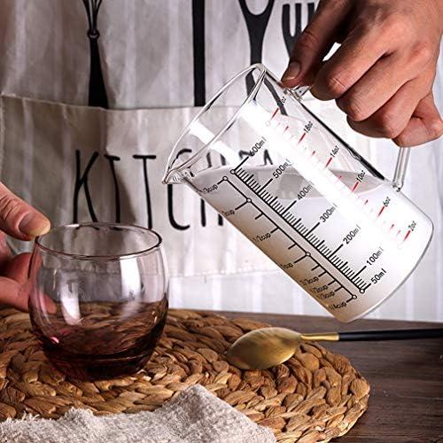 OCEANE Messbecher, 1 Tasse Messbecher aus Borosilikatglas mit Intervallen von 100 ml Skala Neues Küchenzubehör, V-förmiger Auslauf, für Küche oder Restaurant