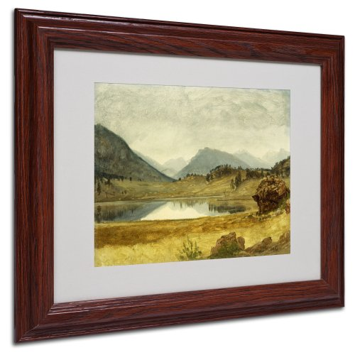 Canvas Bierstadt Frame - Wind River Country Canvas Wall Art by Albert Bierstadt with Wood Frame, 11 by 14-Inch