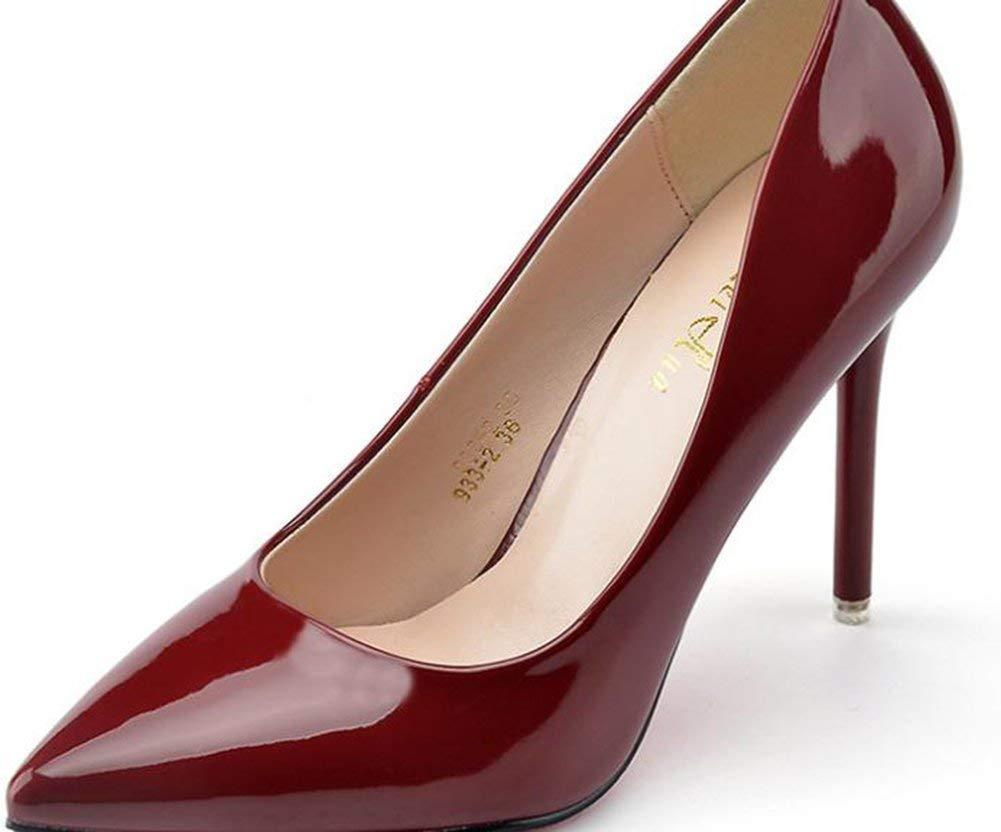 Fuxitoggo Fuxitoggo Fuxitoggo EIN wenig Schuhe Lack Leder Einzigartige (Farbe   Rot Größe   38) 507022