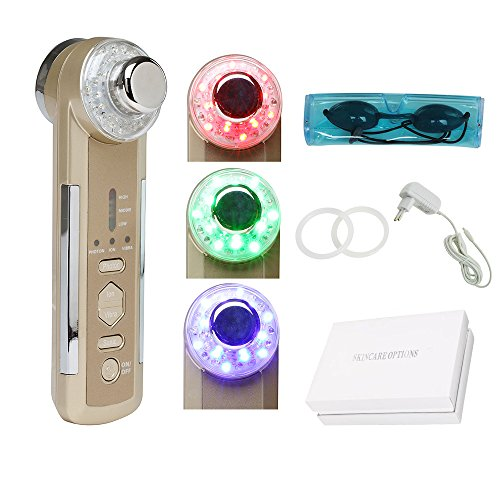 ixaer Hot Sale 4in1 Photon LED Electric Facial Massager Body Face Beauty Skin Care US Plug (Massager Facial Beauty Ultrasonic)