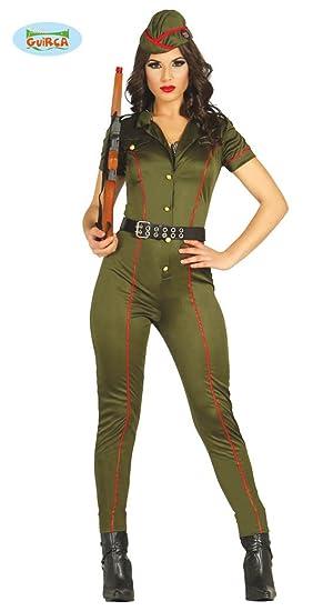 Militaire Soldat Déguisement De Pour Kaki Tailles Ou Femme Plusieurs QCtshrd