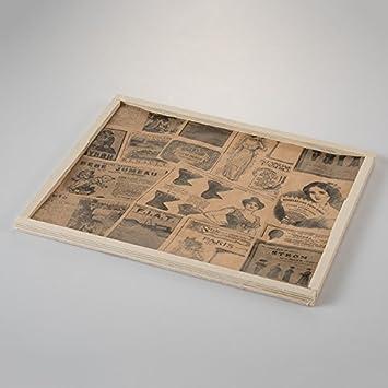 Papel periodico alimentario antigrasa vintage 328x278 mm - Caja: Amazon.es: Hogar