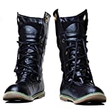 Kintaz Military Tactical Boots for Women Men Comp Toe Jungle Combat Boots with Side Zip (7, Black)