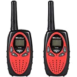 Floureon 8 Canaux Lot de 4 talkies walkies UHF400-470MHZ 2-Way Radio 3KM gamme interphone rouge et noir