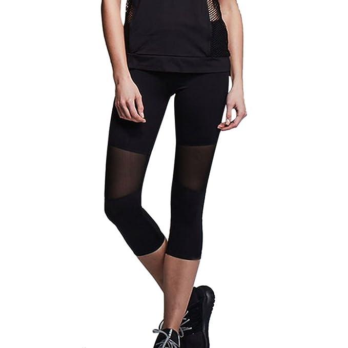Amazon.com: Soholulu Fashion Femme Mesh Stitching Legins ...